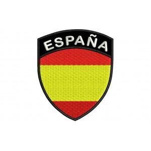 Parche Bordado Bandera ESPAÑA (Escudo 7 x 6 cm)