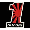 Parche Bordado SUZUKI N1 (Fondo NEGRO)