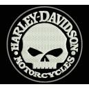Parche Bordado HARLEY DAVIDSON Calavera (Color BLANCO)