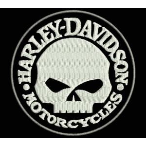 Parche Bordado HARLEY DAVIDSON (Calavera)