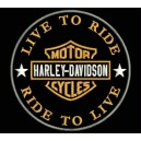 Parche Bordado HARLEY DAVIDSON (Live to Ride)