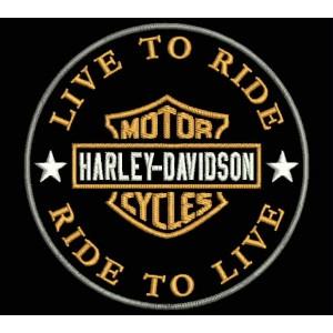 Parche Bordado HARLEY DAVIDSON (Live to Ride)