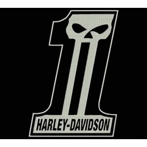 Parche Bordado HARLEY DAVIDSON (Dark Custom)