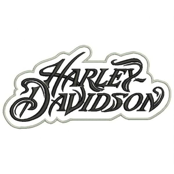 Parche Bordado HARLEY DAVIDSON Letras 1 PARCHES Y BORDADOS