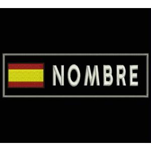 Parche Bordado BANDERA ESPAÑA Y NOMBRE