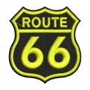 Parche Bordado ROUTE 66 (Color AMARILLO)
