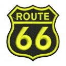 Parche Bordado ROUTE 66 (Color AMARILLO)