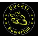 Parche Bordado DUCATI POWERFULL (Color AMARILLO)