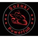 Parche Bordado SUZUKI POWERFULL (Color ROJO)