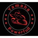 Parche Bordado YAMAHA POWERFULL (Color ROJO)