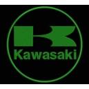 Parche Bordado KAWASAKI (Bordado: VERDE OSCURO - Fondo: NEGRO)