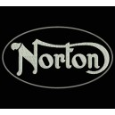 Parche Bordado NORTON (Color BLANCO)