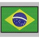Parche Bordado Bandera BRASIL