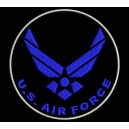 Parche Bordado US AIR FORCE (Color AZUL MARINO)