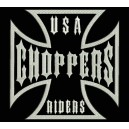 Parche Bordado USA CHOPPERS (Color BLANCO)