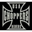 Parche Bordado USA CHOPPERS (Color BLANCO)