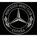 Parche Bordado MERCEDES-BENZ CLUB (Bordado PLATA / Fondo NEGRO)