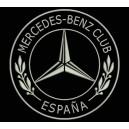 Parche Bordado MERCEDES-BENZ CLUB (Bordado PLATA / Fondo NEGRO)