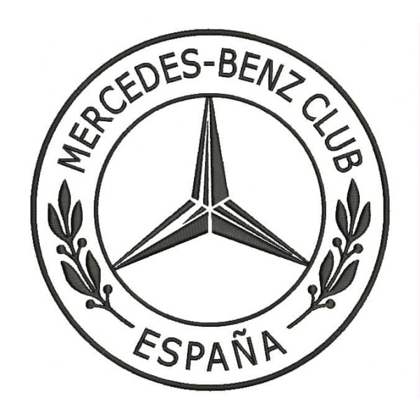parche bordado mercedes-benz club