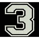 """Parche Bordado """"3"""" (NUMERO TRES)"""