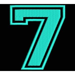 """Parche Bordado """"7"""" (NUMERO SIETE)"""