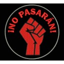 Parche Bordado NO PASARAN (Color ROJO)
