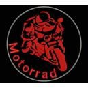 Parche Bordado MOTORRAD (Color ROJO)