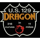 Parche Bordado ROUTE US129 DRAGON (Fondo NEGRO)