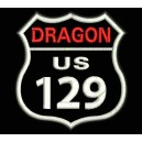 Parche Bordado DRAGON US129 (Fondo NEGRO)