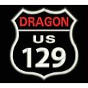 Parche Bordado DRAGON US129 (Fondo NEGRO)