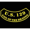 Parche Bordado US129 TAIL OF DRAGON (Color ORO)