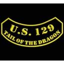 Parche Bordado US129 TAIL OF DRAGON (Color ORO)