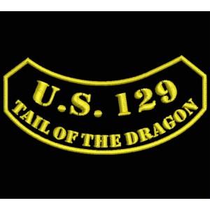 Parche Bordado US129 TAIL OF DRAGON