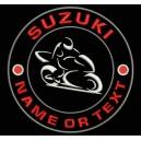 Parche Bordado SUZUKI (Personalizable con MOMBRE o TEXTO)