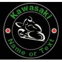 Parche Bordado KAWASAKI (Personalizable con NOMBRE o TEXTO)