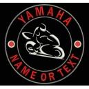 Parche Bordado YAMAHA (Personalizable con NOMBRE o TEXTO)