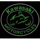 Parche Bordado KAWASAKI MOTORCYCLES (Color VERDE OSCURO)
