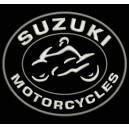Parche Bordado SUZUKI MOTORCYCLES (Color BLANCO)