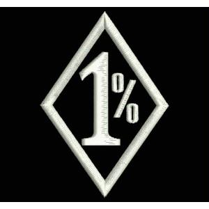 Parche Bordado 1% (ONE PER CENT)