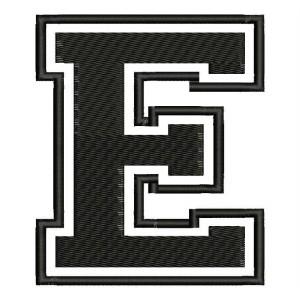 """Parche Bordado """"E"""" (LETRA E)"""