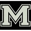 """Parche Bordado """"M"""" (LETRA M) (Color M)"""