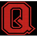 "Parche Bordado ""Q"" (LETRA Q) (Color ROJO)"