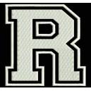 """Parche Bordado """"R"""" (LETRA R) (Color BLANCO)"""