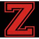 """Parche Bordado """"Z"""" (LETRA Z) (Color ROJO)"""