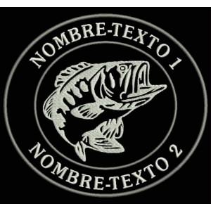 Parche Bordado PESCA BASS FISHING (Personalizable)