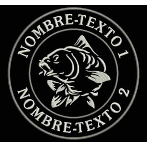 Parche Bordado PESCA CARP FISHING (Personalizable)
