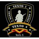 Parche Bordado AIRSOFT SOLDIER (Fondo NEGRO)