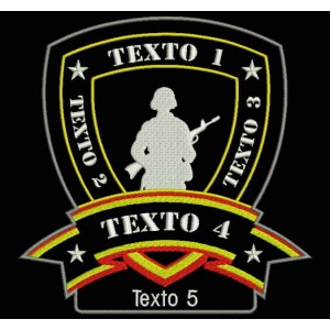 Parche Bordado AIRSOFT SOLDIER (Personalizable)