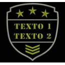 Parche Bordado AIRSOFT TEXTO (Color VERDE OLIVA)