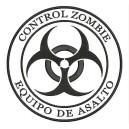 Parche Bordado ZOMBIE CONTROL (Color NEGRO)